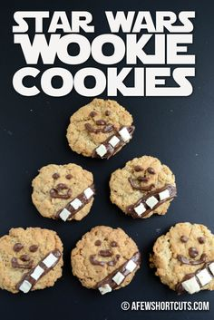 Star Wars fans will love this yummy and simple Star Wars Wookie Cookies Recipe. A chewy oatmeal cookie with some chocolate frosting. The perfect addition to a party of movie night!