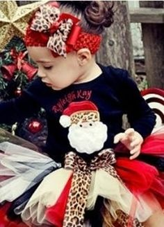 Stylish Christmas outfit for little girls
