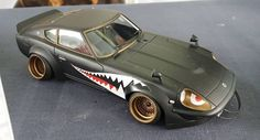 Auto Retro, Plastic Model Cars, Custom Hot Wheels, Datsun 240z, Remote Control Cars, Nose Art, Transportation Design, Tamiya, Rc Cars