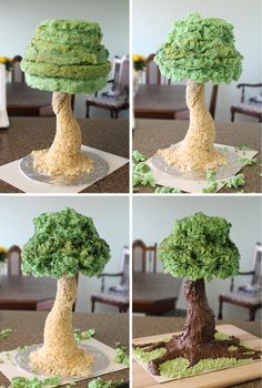Sculpted Tree Cake Method