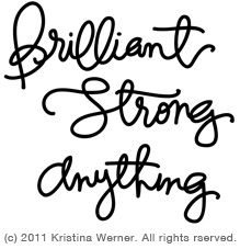 Brilliant Strong Anything Cut File - SILHOUETTE free file