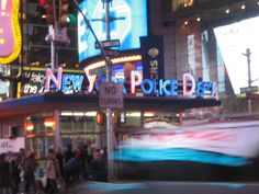 New York Police Department a Times Square