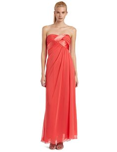 14be16d377b ABS Allen Schwartz Women s Strapless Chiffon Tucked Gown    Check this  awesome image   Evening