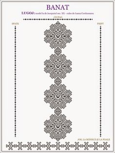 Ie de Banat Cross Stitch Borders, Cross Stitching, Cross Stitch Patterns, Embroidery Motifs, Machine Embroidery, Embroidery Designs, Antique Quilts, Embroidery Techniques, Beading Patterns