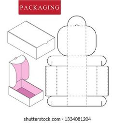 Similar Images, Stock Photos & Vectors of Vector Illustration of Box.Package Template. Isolated White Retail Mock up. - 1078315694 | Shutterstock Cool Paper Crafts, Paper Crafts Origami, Wire Crafts, Diy Gift Box, Paper Gift Box, Diy Box, Mushroom Crafts, Printable Box, Box Patterns