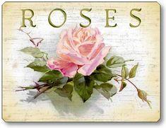 Item 46 Cottage Roses Plaque