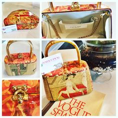 Stella Page Designer Bag Mint condition. Designer passed away in 2015. She designed for the stars. This is one of her pieces of art Stella Page Bags Satchels