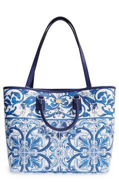Dolce&Gabbana 'Lara' Crespo Print Shopper