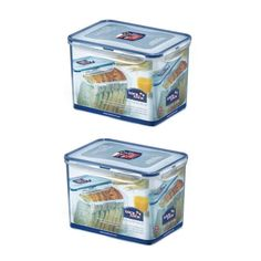 2 X Lock & Lock Rectangular Food Contsainer 3.9L(131.9oz) #LockLock