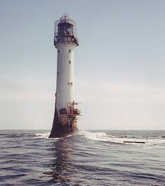 Bell Rock Lighthouse, Scotland – The world's oldest surviving sea-washed lighthouse was built on the Bell Rock, 11 miles (18 km) from the shoreline!  First lit in 1811, it stands 35 metres (115 ft) tall and its light is visible from 35 statute miles (56 km) inland. The challenges faced in the building of the lighthouse have led to it being described as one of the Seven Wonders of the Industrial World