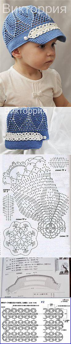 Crochet hat for children Crochet Kids Hats, Crochet Girls, Crochet Beanie, Knit Or Crochet, Cute Crochet, Crochet Crafts, Crochet Clothes, Crochet Projects, Knitted Hats