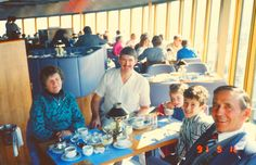 Sydney Tower restaurant 1991. Baba & Dig, The Major, my sister Sarah and I having a great time.