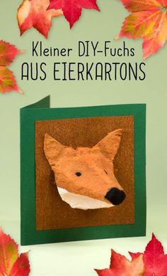 Ganz schön ausgefuchst: Herbstliche Dekoration aus Eierkartons #Bastelanleitung auf #arskreativ #DIY