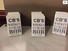 Whiskey/Bar Custom Cigar Bar Match Boxes -25 boxes with FREE CUSTOMIZATION