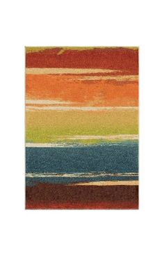 Orian Rugs Bright Color Stripes Magnificent Multi Area Rug