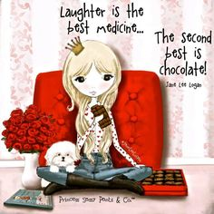 Laughter and chocolate do the trick for happiness!