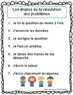 Le problème du jour: First Grade French Math Word Problem of the day (September) Math 2, 5th Grade Math, Math Problem Solving, Too Cool For School, School Stuff, Teaching French, Science Activities, Teaching Math, Special Education