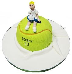 Sport Themed Cakes with Free Delivery Tennis Cake, Tennis Party, 40th Birthday, Birthday Cakes, Rodjendanske Torte, Sports Themed Cakes, Sport Cakes, Creative Cakes, Cake Decorating