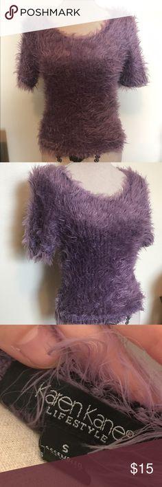 Karen Kane Lifestyle Fuzzy Sweater Karen Kane Lifestyle Fuzzy Sweater, Short Sleeve, Size SM Karen Kane Tops