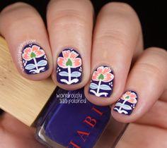 Wondrously Polished: Um, yes. More floral!