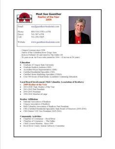 real estate resumes samples sample resumes - Sample Of Resume Format