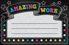 Chalkboard Brights Amazing Work Awards - Printed on sturdy paper, these awards will become keepsakes for the youngsters who receive them. General titles allow for personalized messages that are sure to build self-esteem.