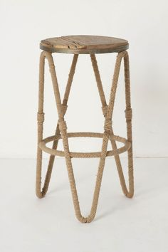 Rope wrapped counter stools