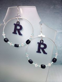 Custom Request High School Team Hoop Earrings by joolrylane