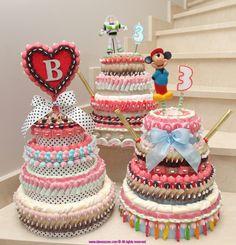 Tartas de chuches - Candy cakes - Gâteau de bonbons