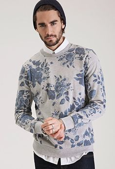 Faded Rose Print Sweatshirt | 21 MEN - 2000082927