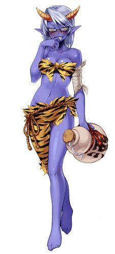Blue Oni - Monster Girl Encyclopedia Wiki - Wikia