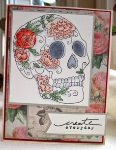 Skullies in the Closet stamp handmade card by Just Sayin' cards...