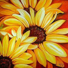 """Sunflowers"" par Marcia Baldwin"