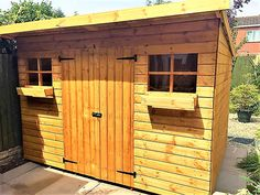 Wooden custom garden shed.