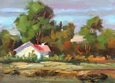 RURAL HOME 5x7 OIL PAINTING by TOM BROWN, painting by artist Tom Brown
