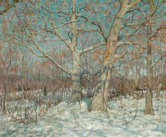 """""""Winter Scene, Old Lyme"""", Clark Greenwood Voorhees (1871-1933), oil on canvas, 28 x 34"""", private collection."""