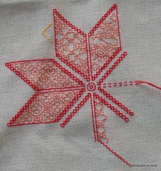 Example of Kasuti- the Colorful Indian cousin to Blackwork...