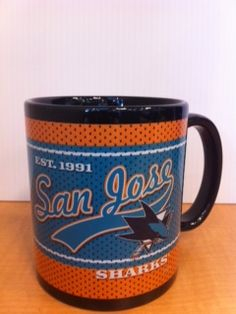 Sharks Mug - Get it exclusively at the Sharks Store at HP Pavilion. Text STORE to 74499 for Sharks Store deals! (msg rates may apply) $12