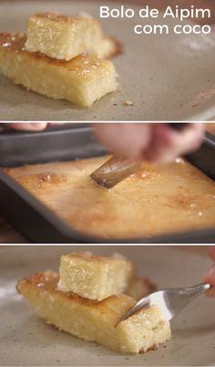 Aipim com coco é uma combinação acertada de sabores. Este bolo é fácil de preparar e fica tão cremoso quanto saboroso