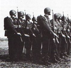 Polish infantry on parade. Most of them are armed with the Polish Mauser, the but one soldier carries the a BAR derivative built under license in Poland and chambered for Mauser. (Sikorski Institute), pin by Paolo Marzioli Poland Ww2, Invasion Of Poland, Troops, Soldiers, Sailors, Military History, Armed Forces, World War Ii, Wwii
