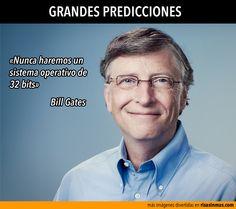 Grandes predicciones: Bill Gates.