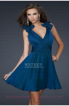 Blue Homecoming Dress  Short Dresses