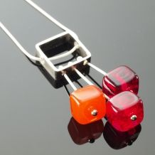 Handcrafted lampworked glass and sterling silver jewelry