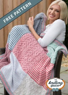 Pretty Textures Knitted Blanket [FREE Knitting Pattern]