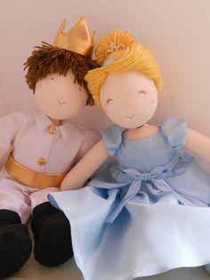 Casal Cinderela e Príncipe-45cm | Doll's Boutique | Elo7
