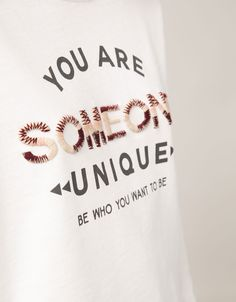 BSK text & embroidered sweatshirt 'Someone' - Sweatshirts - Bershka United Kingdom