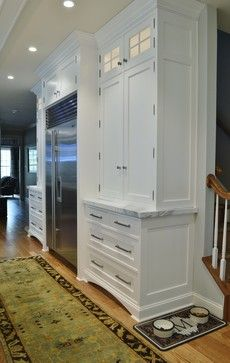 Kitchen cabinetry. Stainless with white. (My favorite combination.)