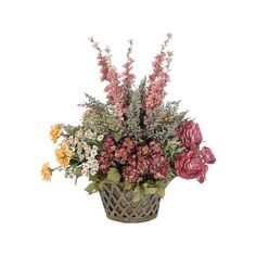 flower in baskets_цветочные корзины (6).png ❤ liked on Polyvore featuring flowers and plants