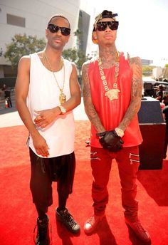 Tyga and Big Sean. Don't believe the HYPE! Tyga and Big Sean are the Kellogg Fruit Loops of the Rap Community (you know high on sugar, artificial colors, and low on nutritional value).