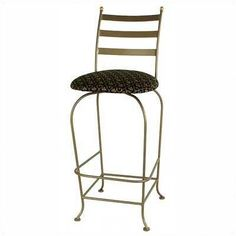 "Grace Carolina 30"" Swivel Bar Stool Upholstery: Cimarron Levante, Base Finish: Burnished Copper"